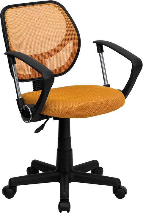 Flash Furniture  Mid-back Task Chair Orange Mesh Upholstery