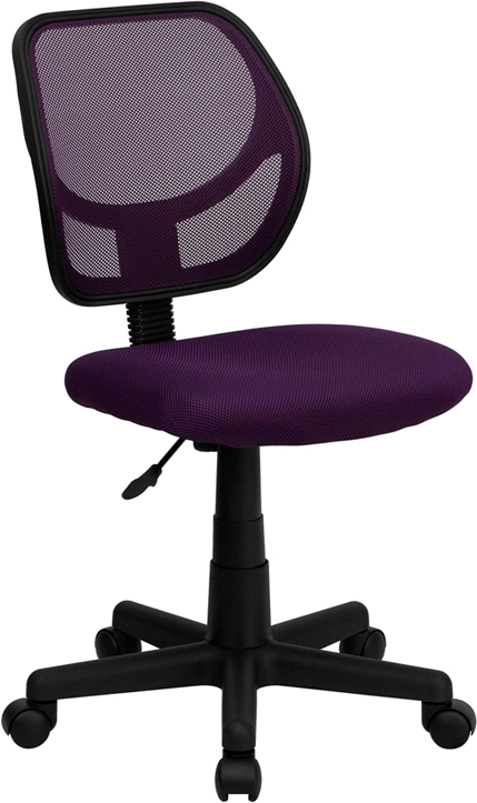 Flash Furniture  Mid-back Task Chair Purple Mesh Upholstery