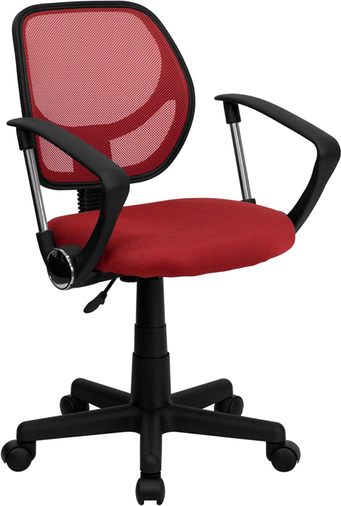 Flash Furniture  Mid-back Task Chair Red Mesh Upholstery