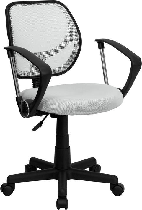 Flash Furniture  Mid-back Task Chair White Mesh Upholstery