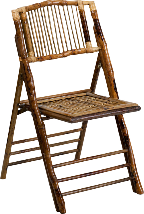 Flash Furniture  Stylish Bamboo Folding Chair High Quality Construction