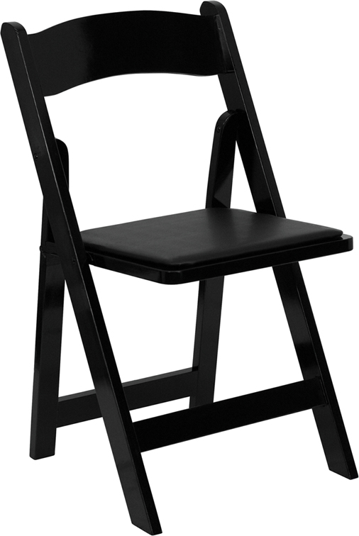 Flash Furniture  Black Wood Folding Chair Lightweight Design