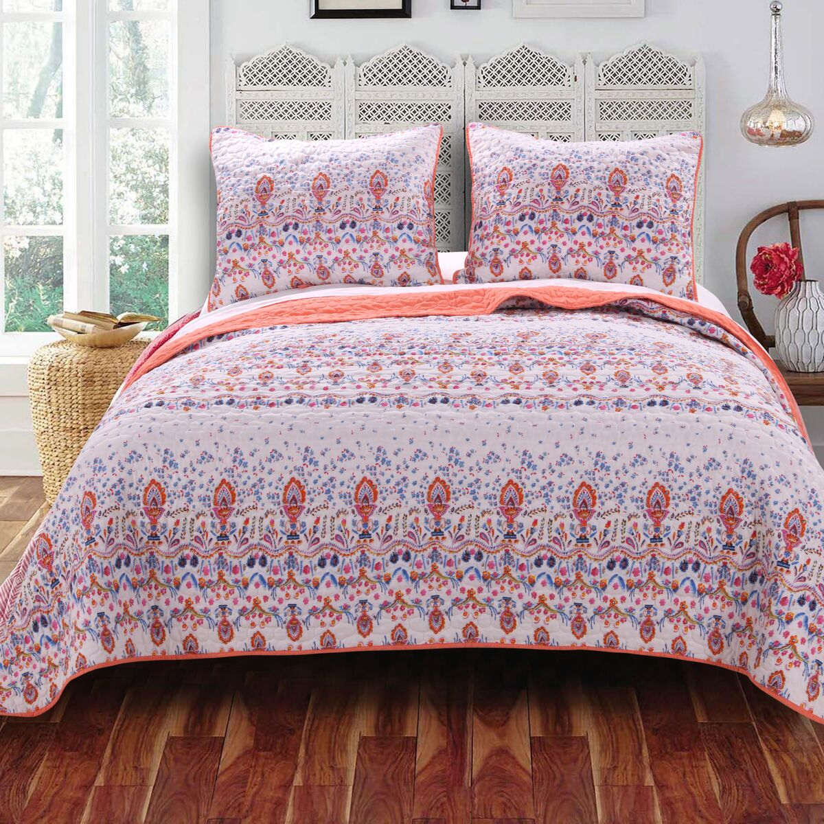 Amber Multi Quilt Set, 3-piece King