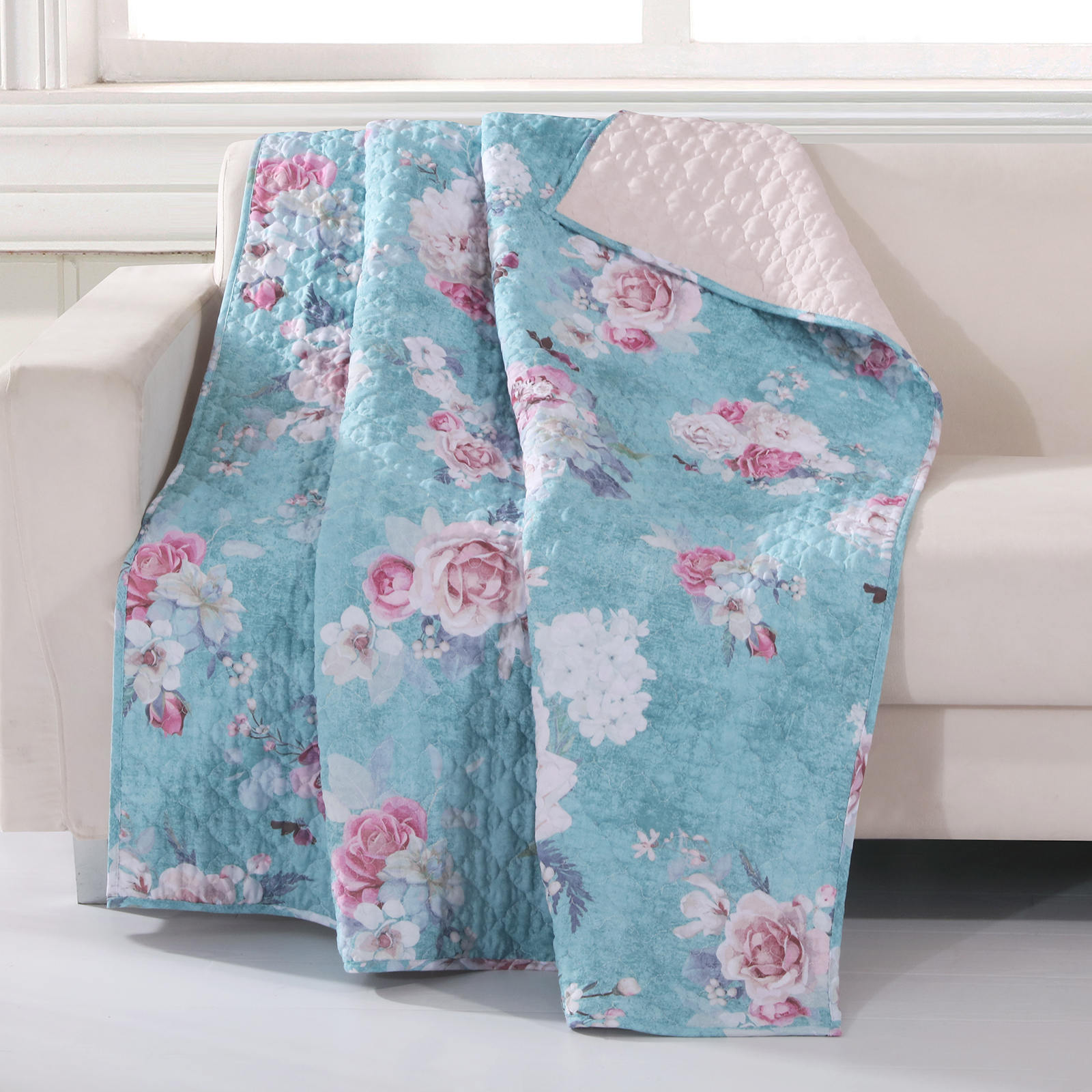 Avril Turquoise Blue Accessory Throw