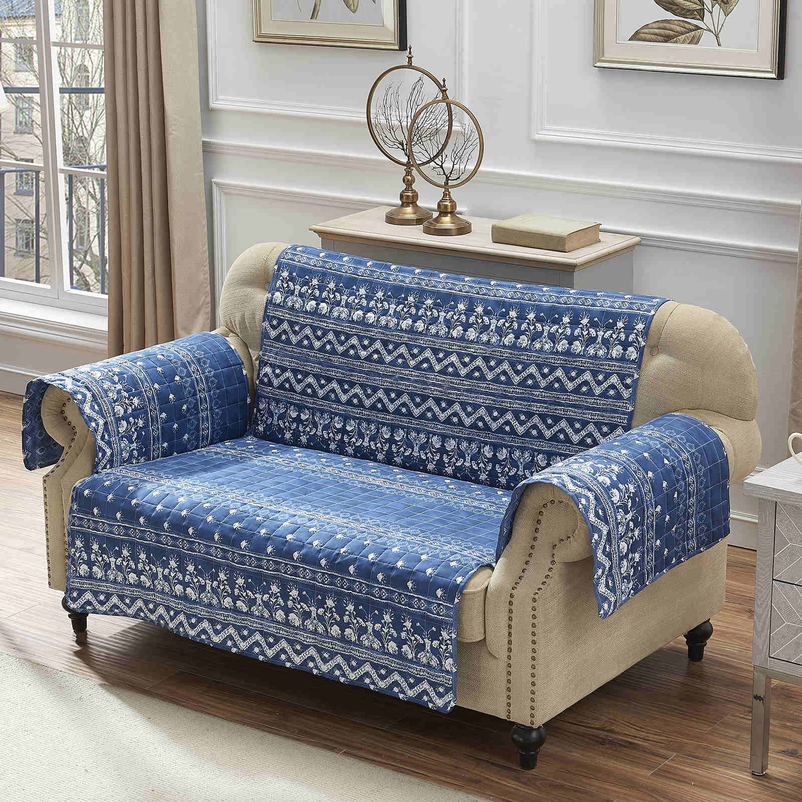 Embry Indigo Furniture Protector Loveseat