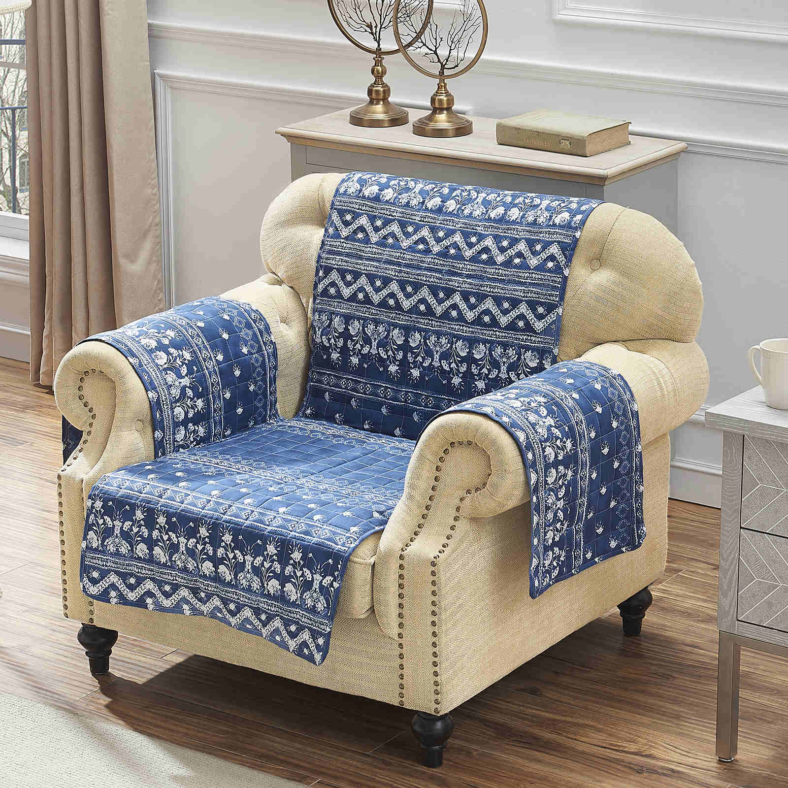 Embry Indigo Furniture Protector Arm Chair