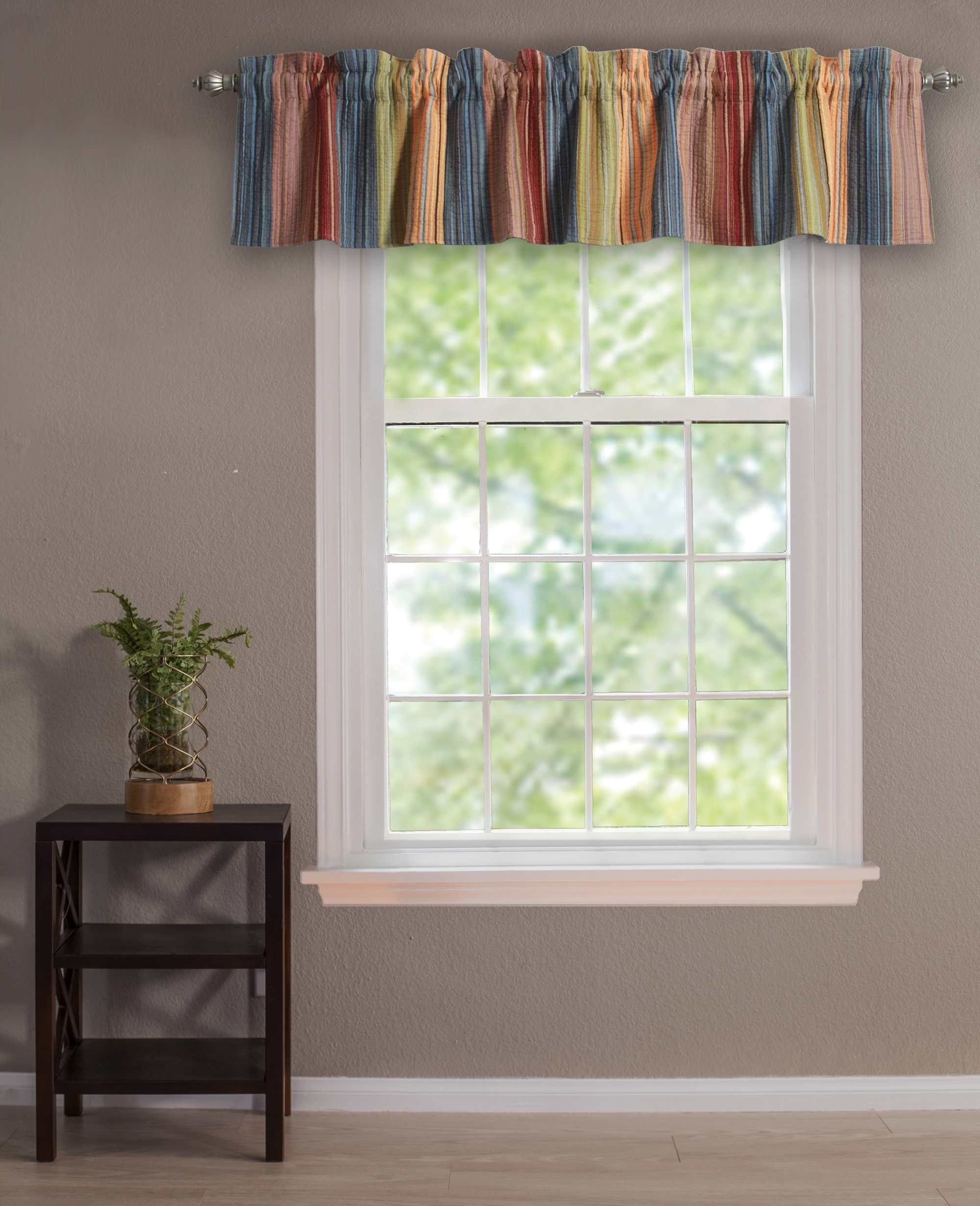 Katy Multi Window Valance, Quilted