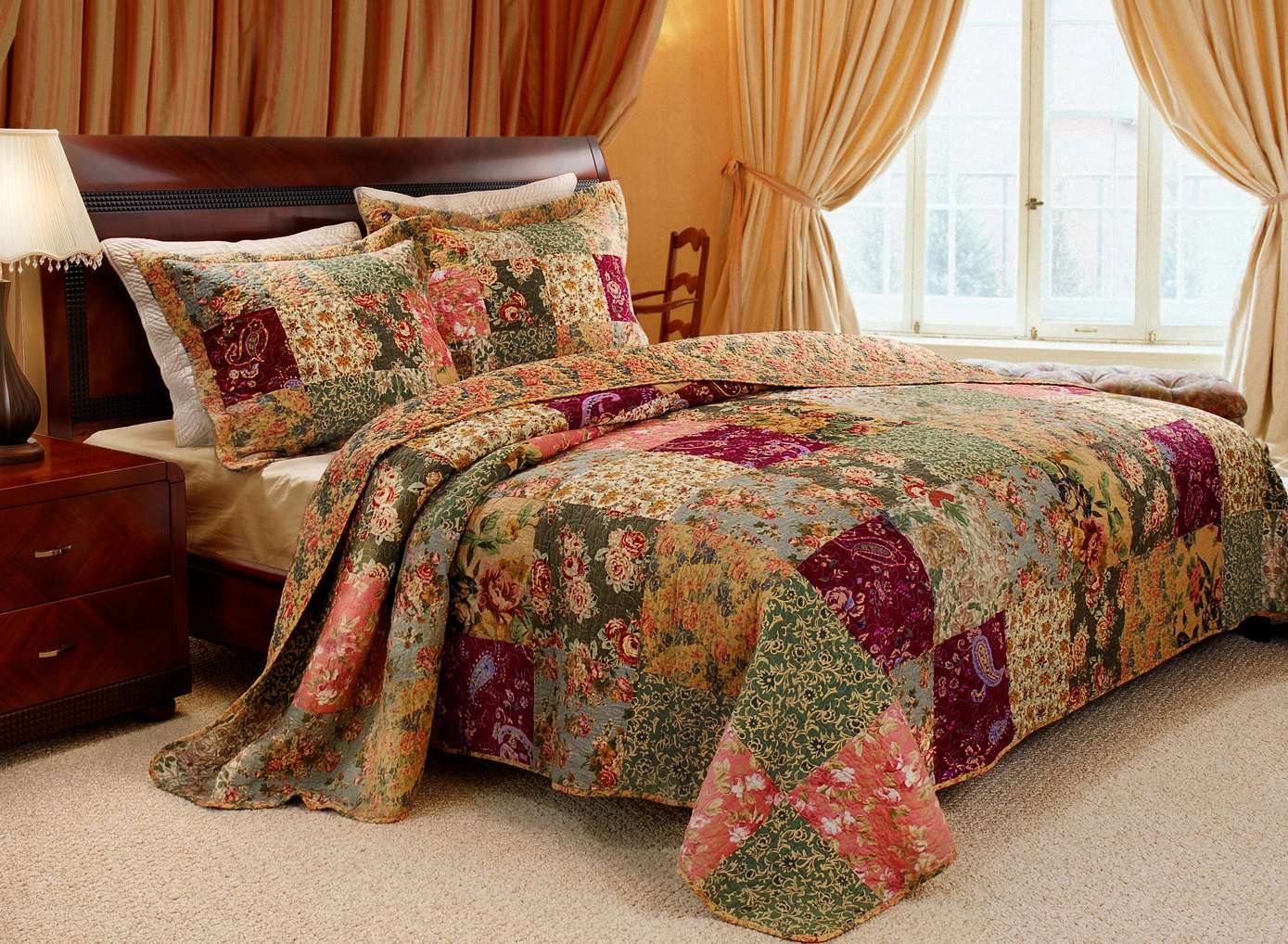 Antique Chic Multi Bedspread Set, 3-piece King