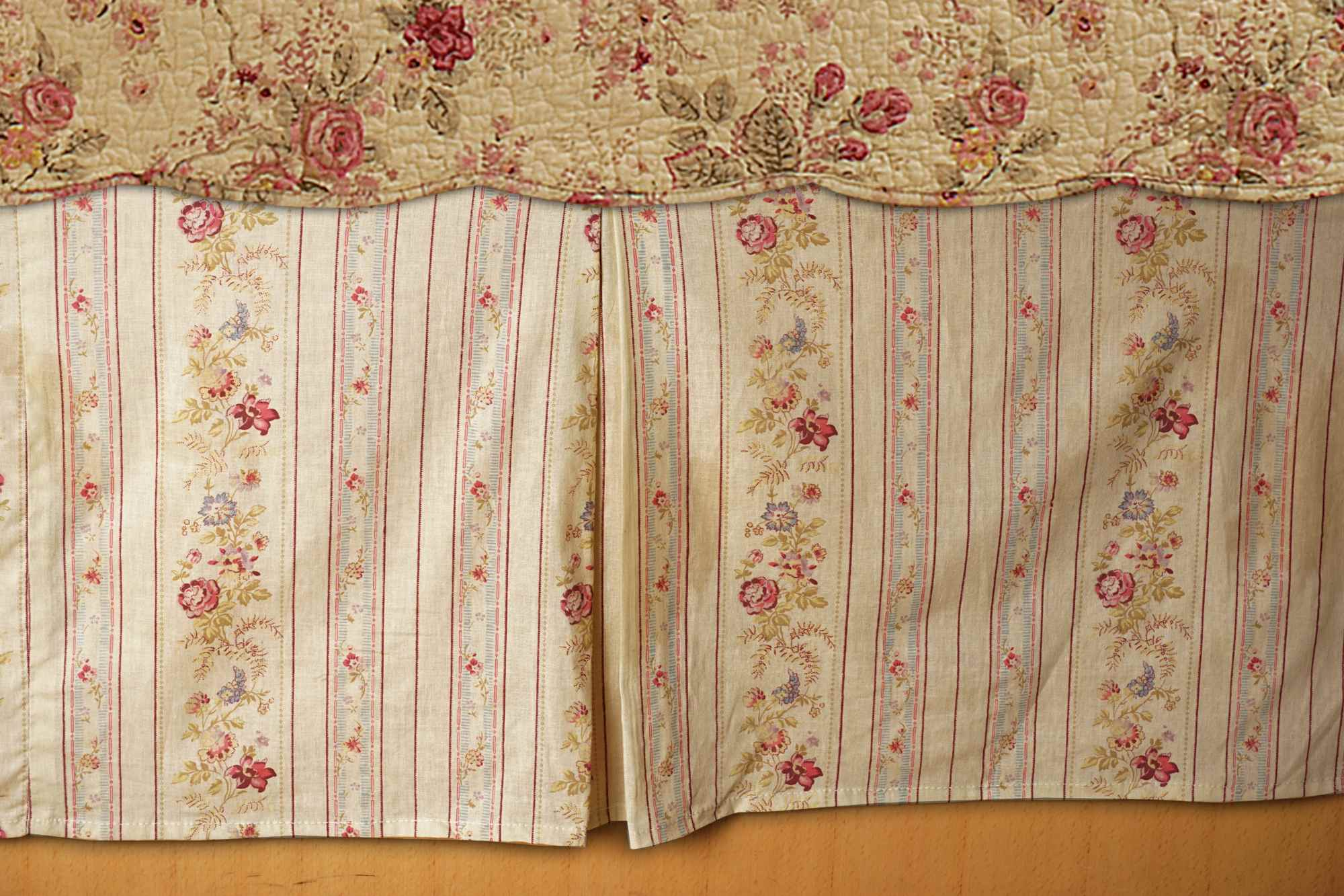 Antique Rose Multi Bed Skirt 15 Twin