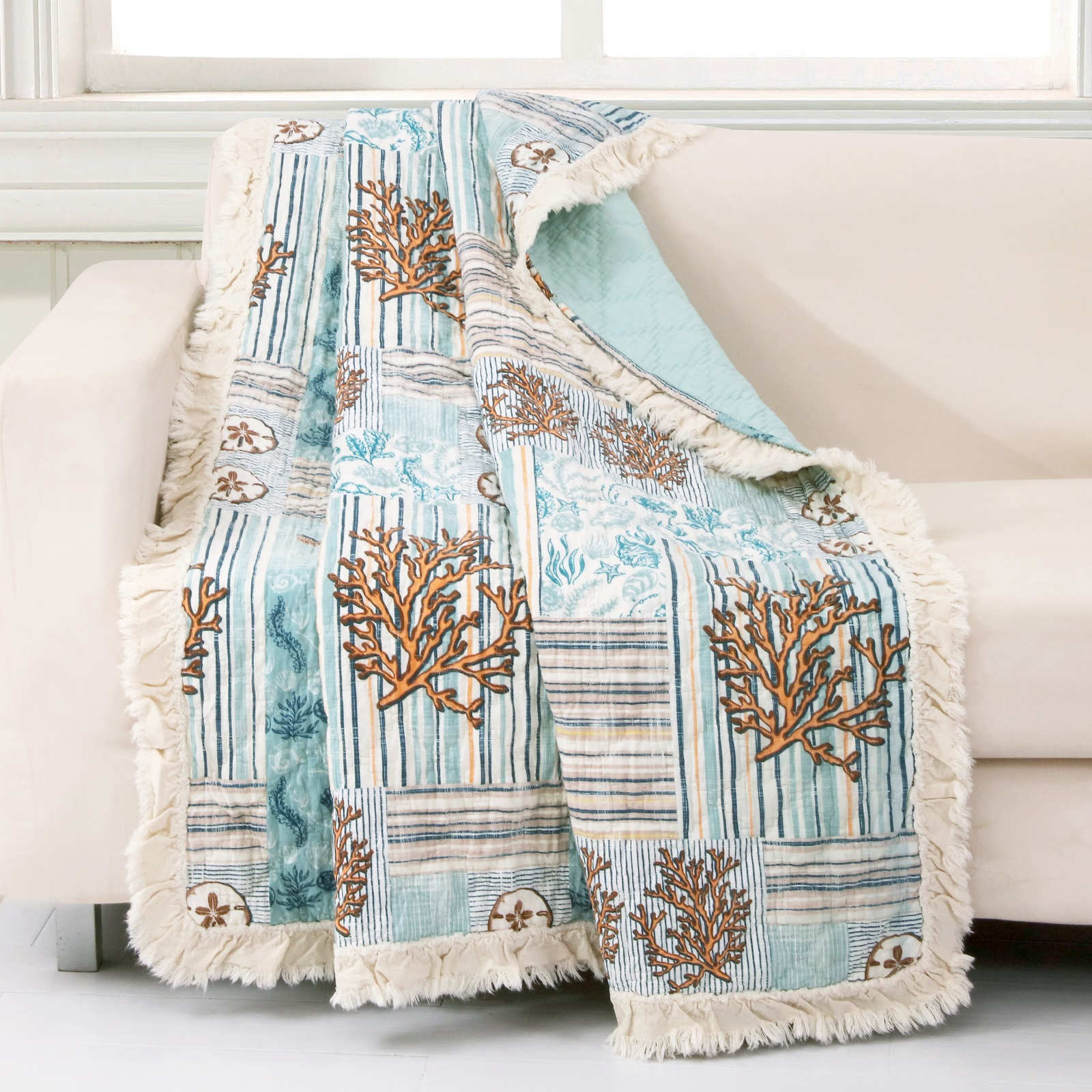 Key West Seafoam Accessory Throw