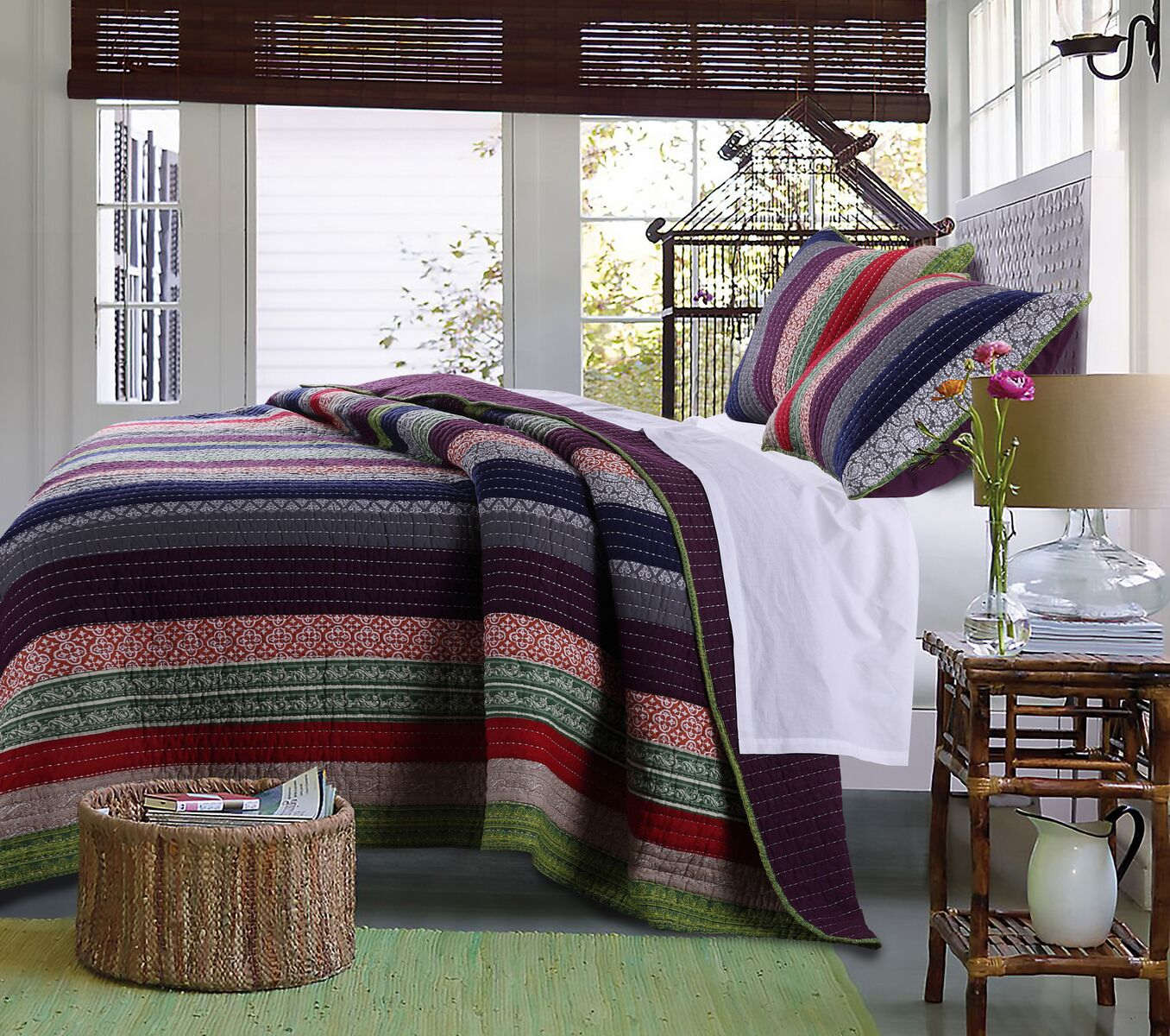 Marley Multi Quilt Set, 3-piece King