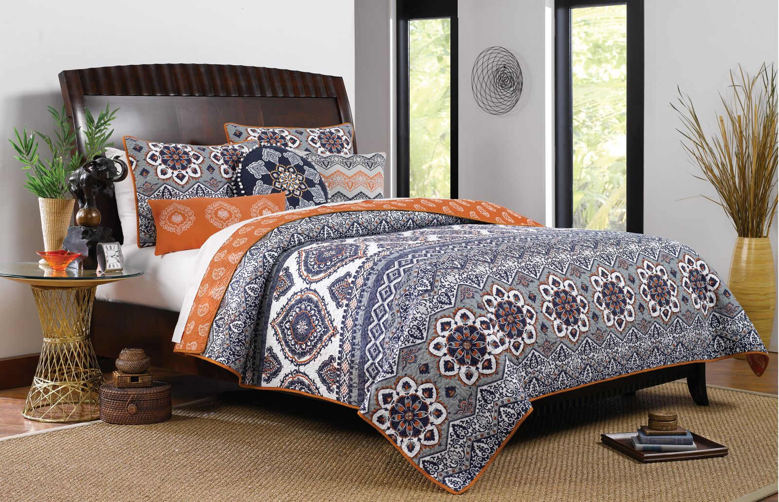 Medina  Saffron Quilt Set, 3-Piece King