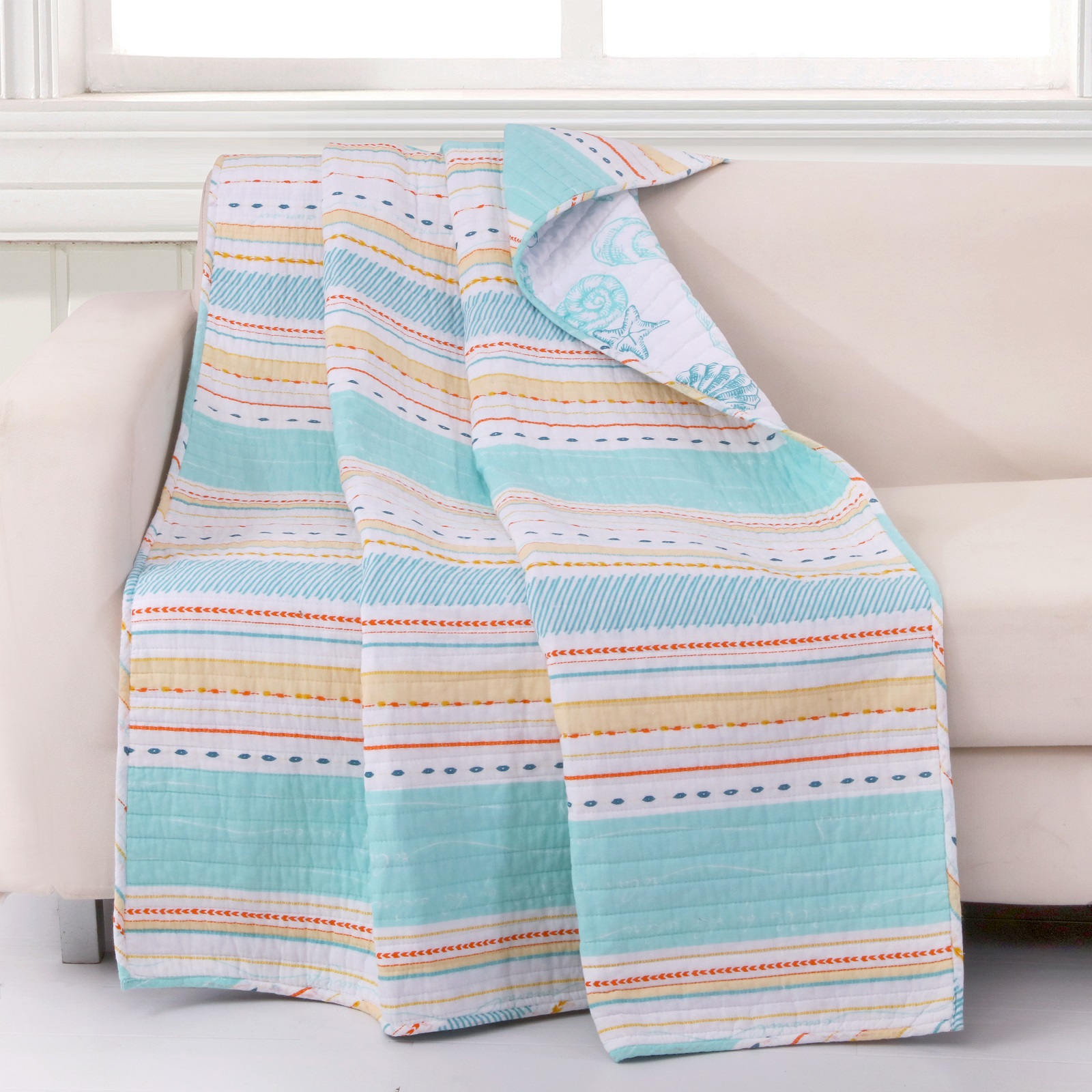 Pacifica Aqua Accessory Throw