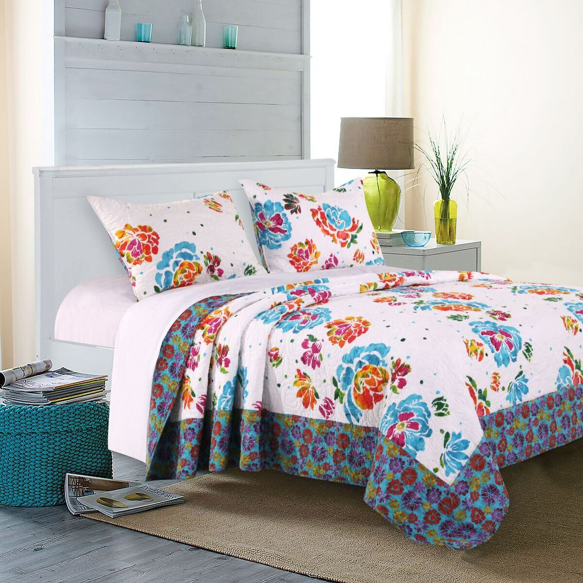 Ravey Multi Quilt Set, 3-Piece King