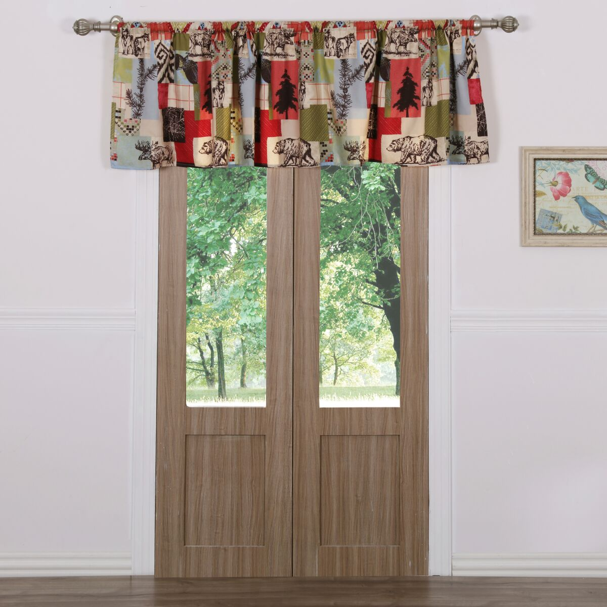 Rustic Lodge Multi Window Valance