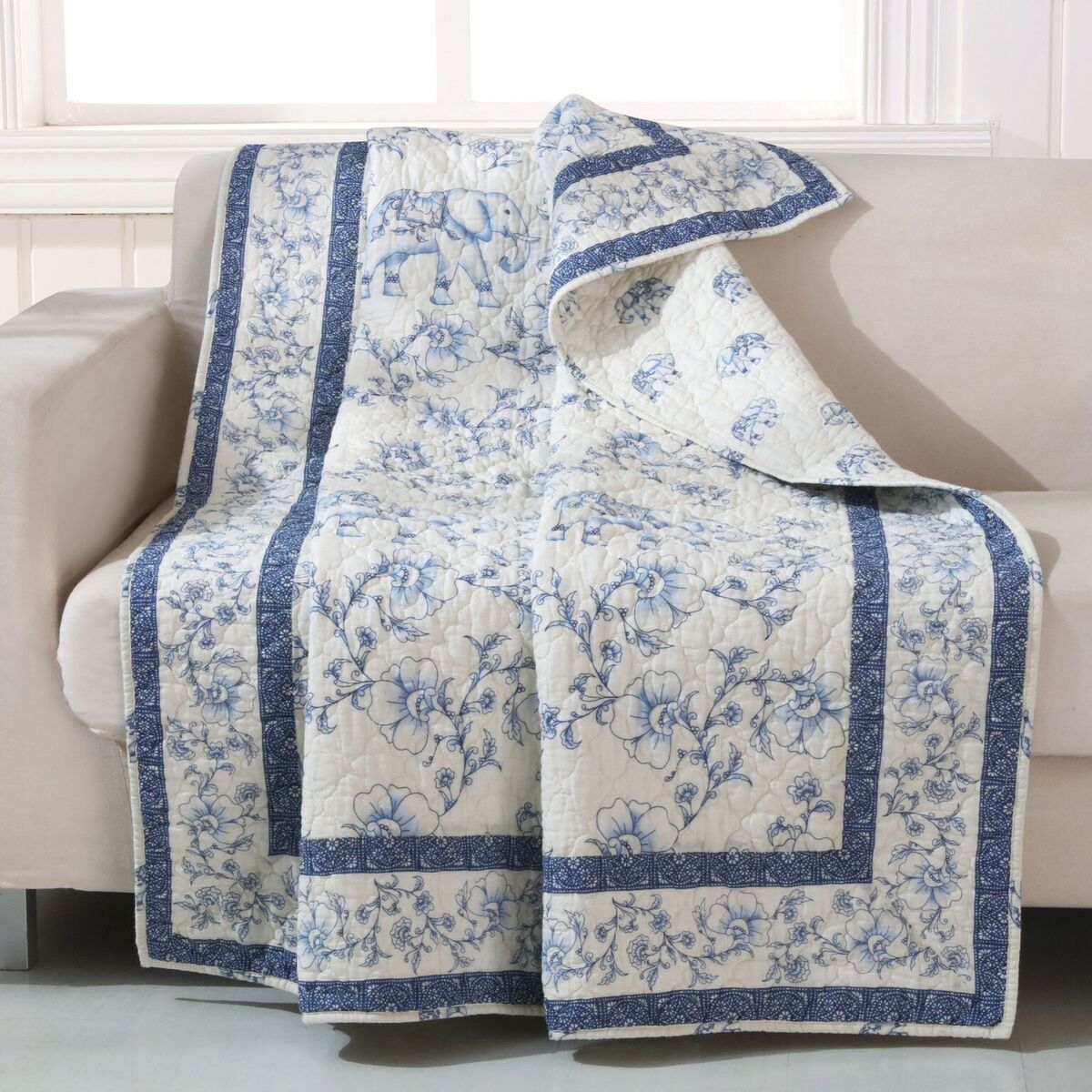 Saffi Blue Accessory Throw