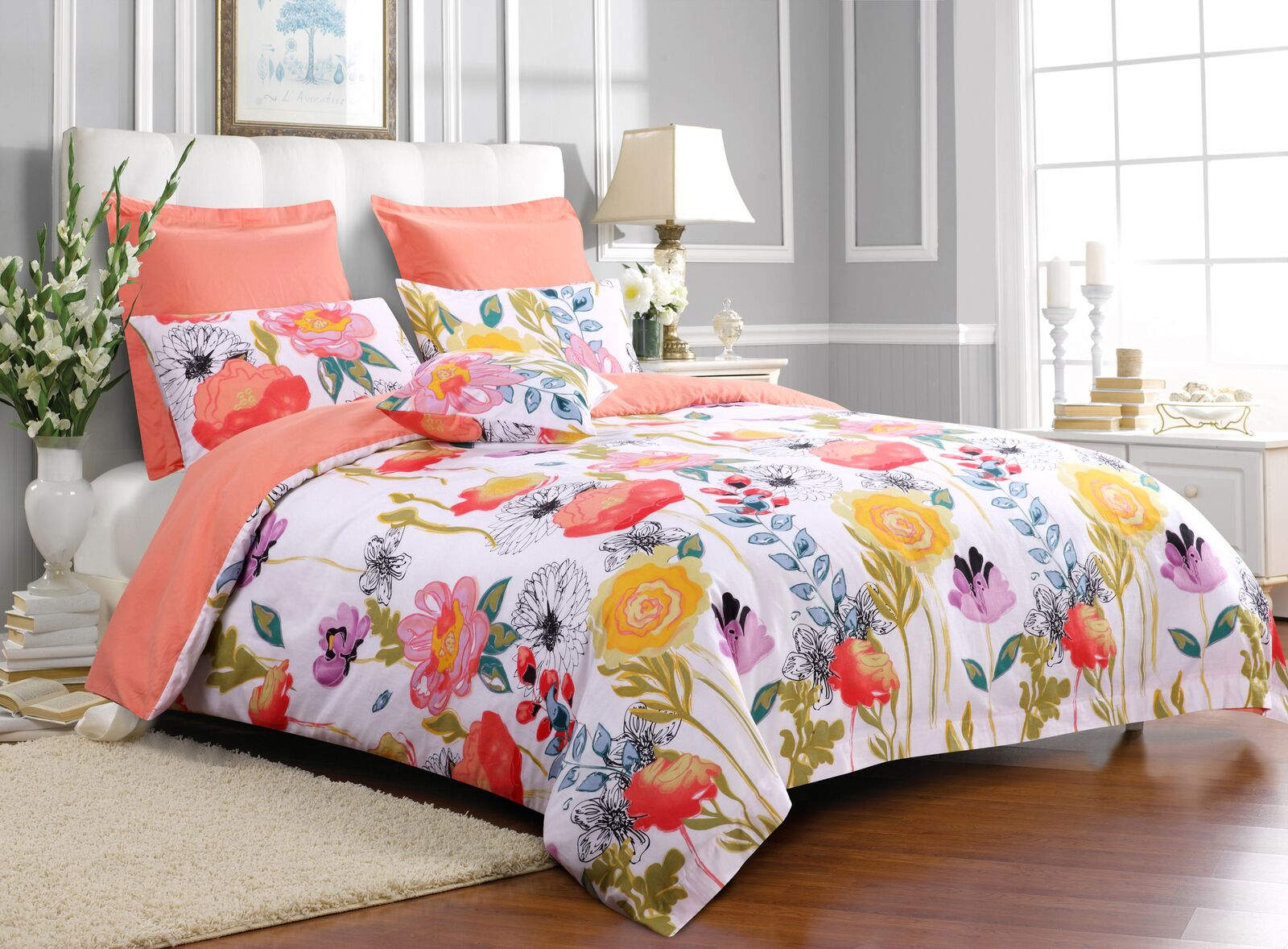 Watercolor Dream Multi Duvet Cover Set, 3-pc King