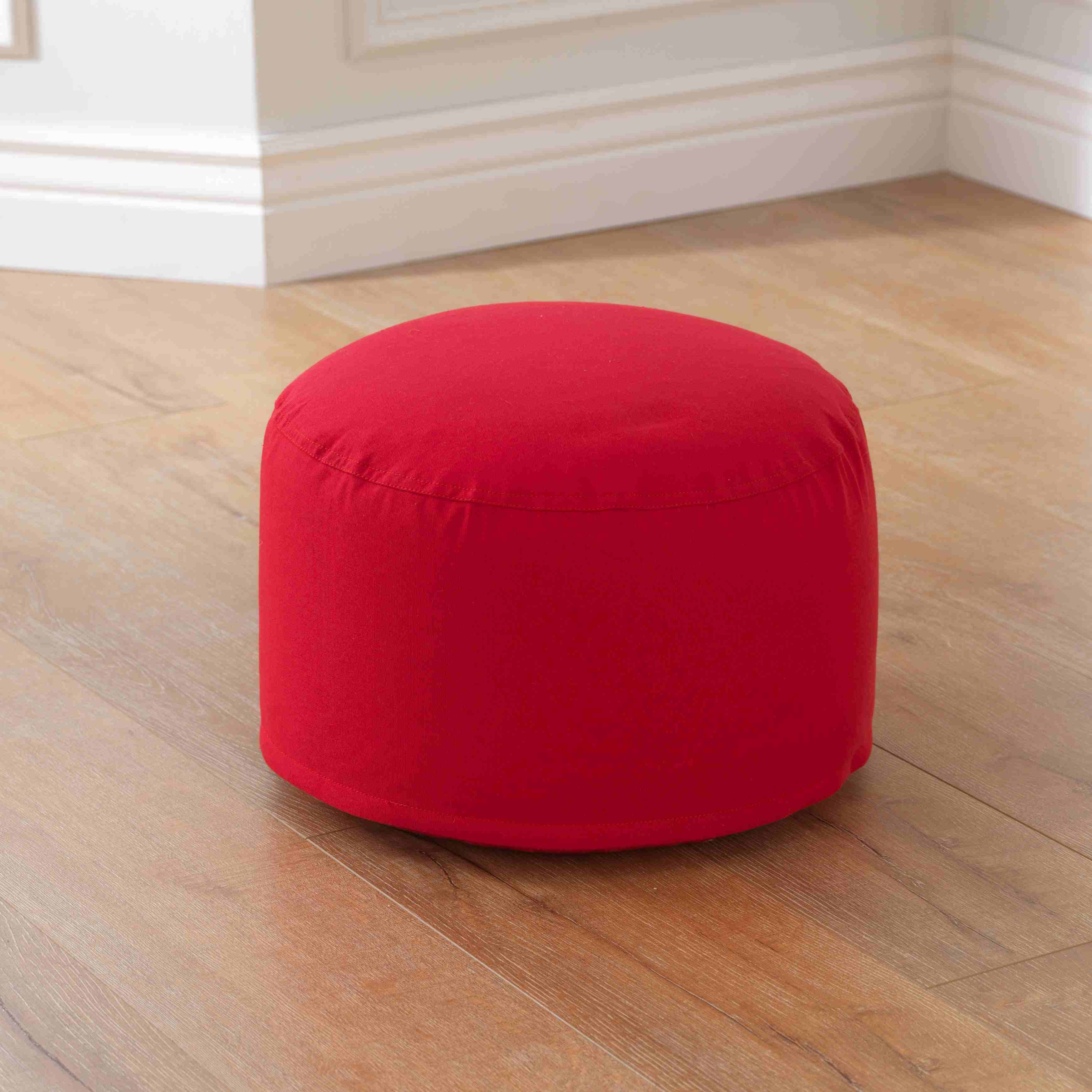 Round Pouf - Red