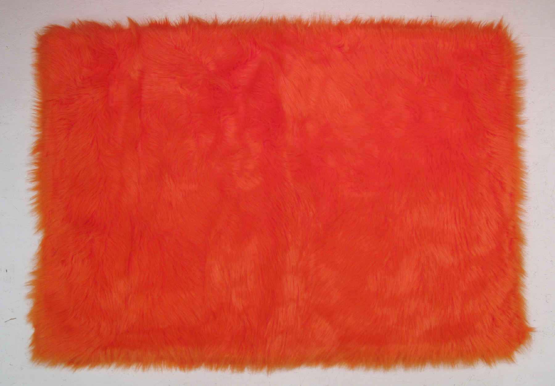 Fun Rug Flokati Orange Area Rug