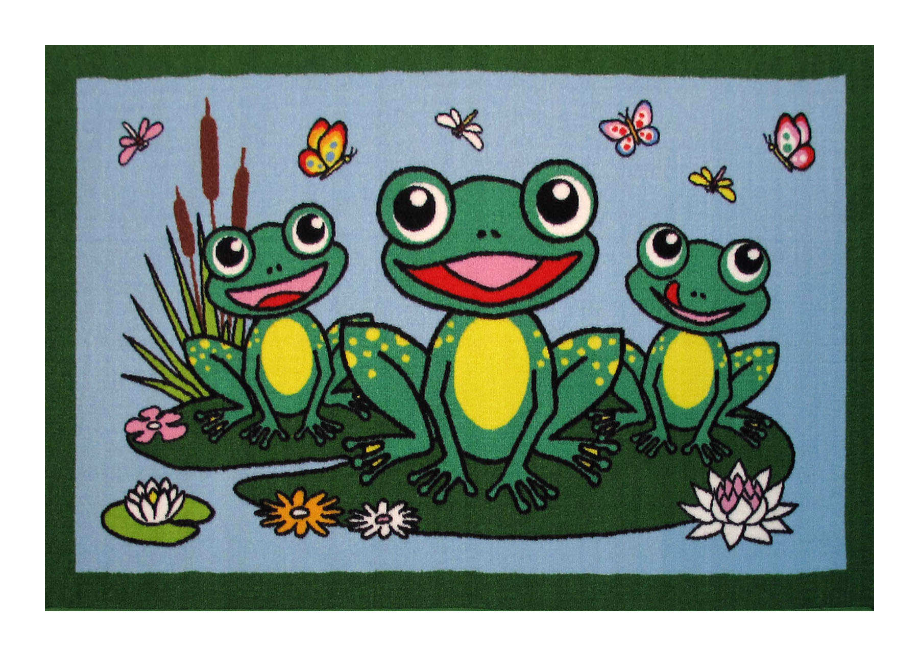 Fun Rug Fun Time Frogs Area Rug