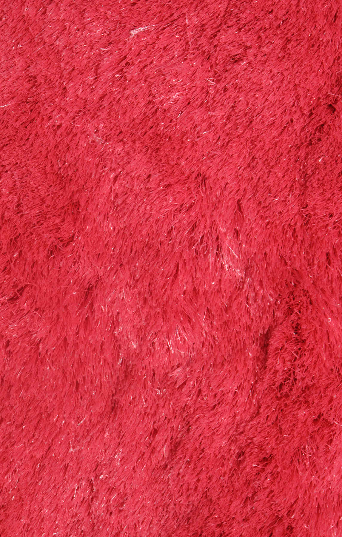 La Rug Silky Shag Ssc-61  Red