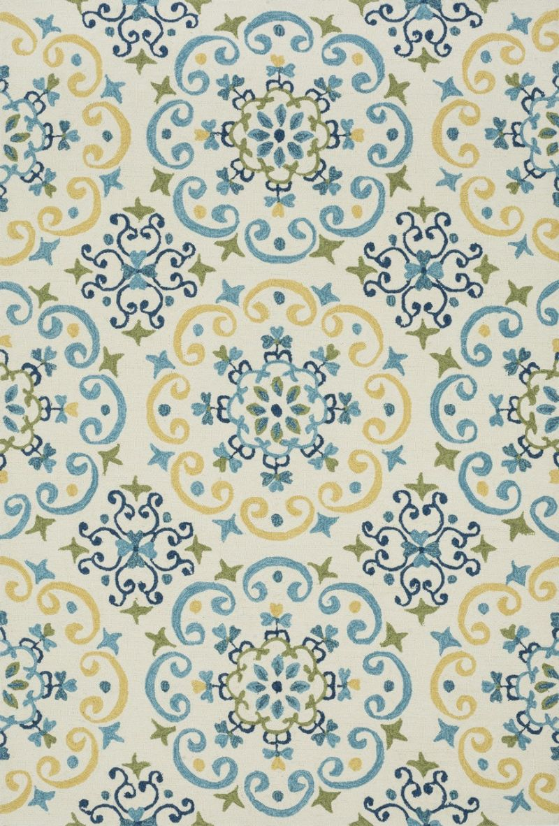 Loloi Francesca Fc35 Ivory / Light Blue Rug