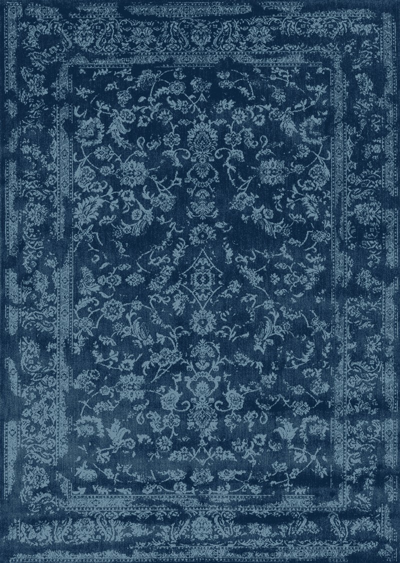 Loloi Florence Navy / Aqua Transitional Rug