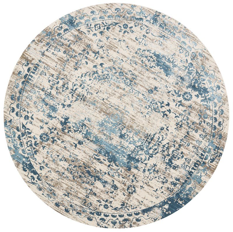 Loloi Kingston Kt-05 Ivory / Blue Rug