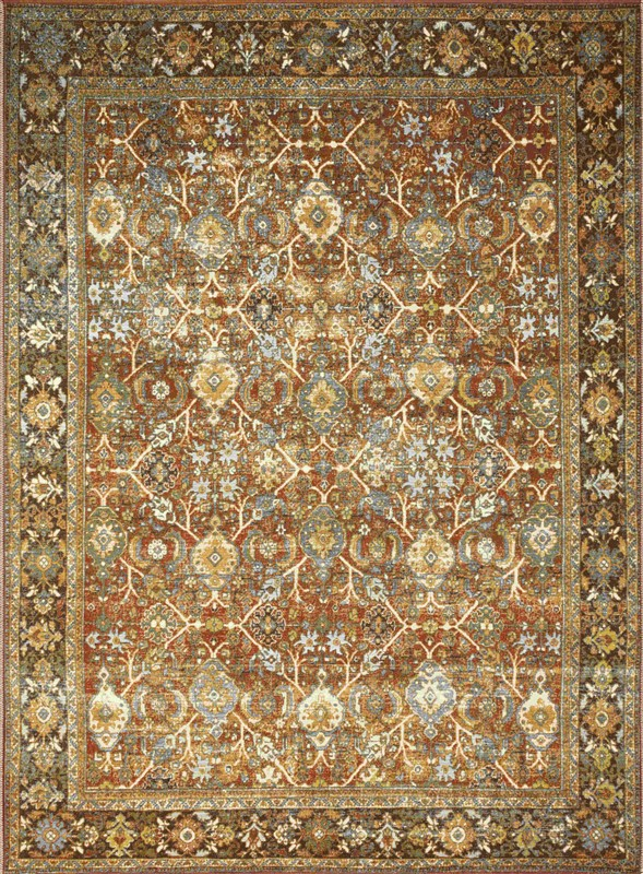 Loloi Sebastian Traditional Red Rugs Seb-06