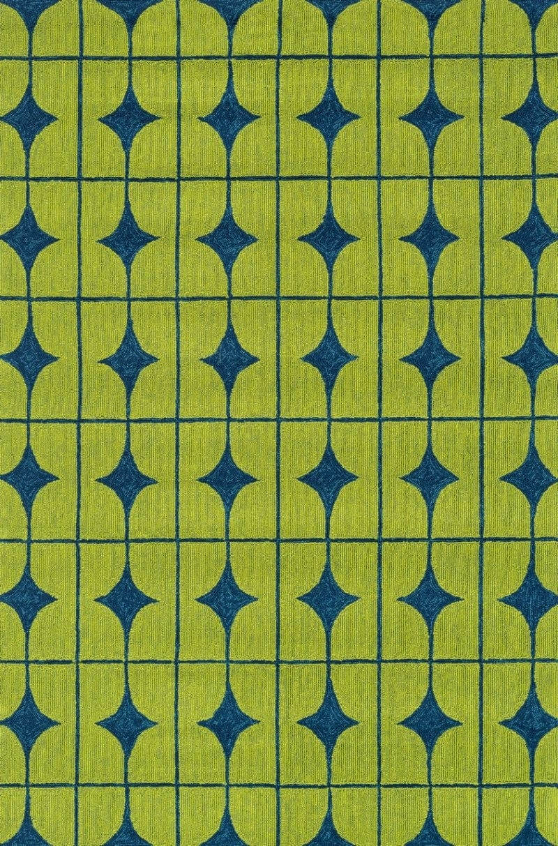 Loloi Venice Beach Vb03 Lime / Blue Rug