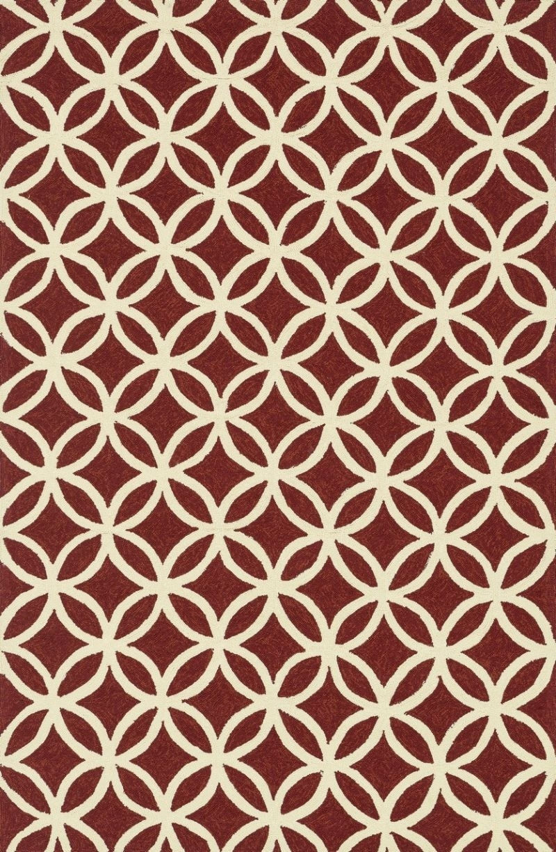 Loloi Venice Beach Vb05 Red / Ivory Rug