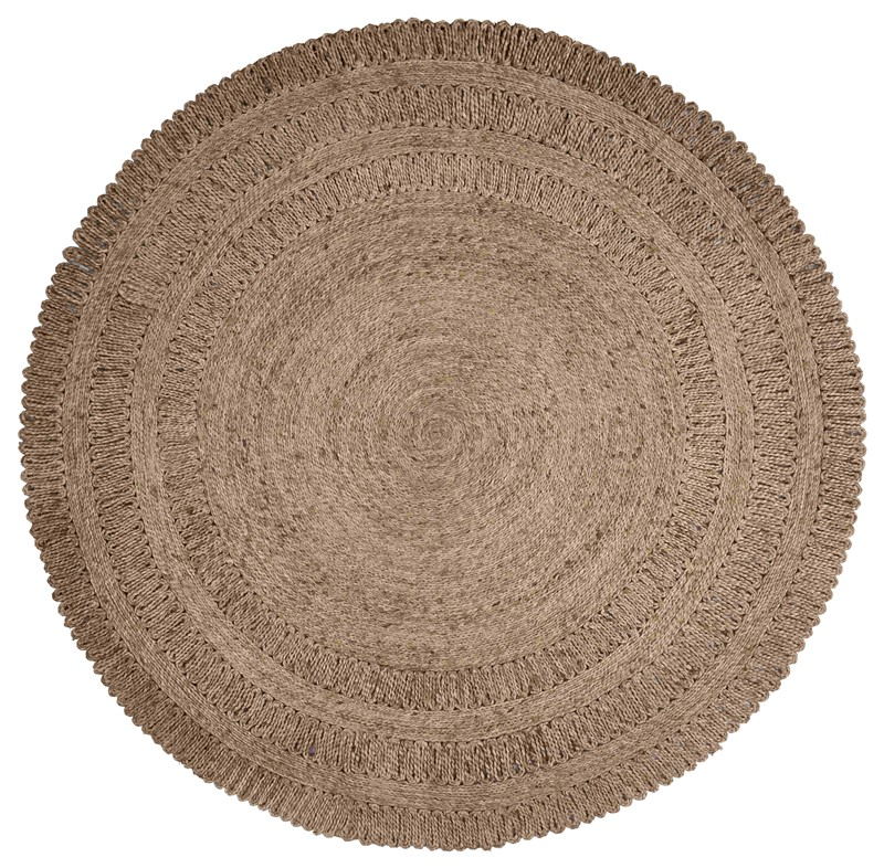Lrresources Naturaljute Globally Inspired Gray Rug Lr12034-gry60rd