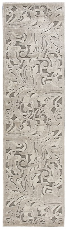 Nourison Graphic Illusions 117 Grey Camel Rug