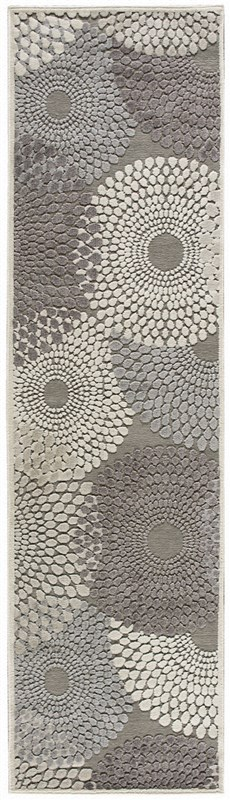 Nourison Graphic Illusions 118 Grey Rug
