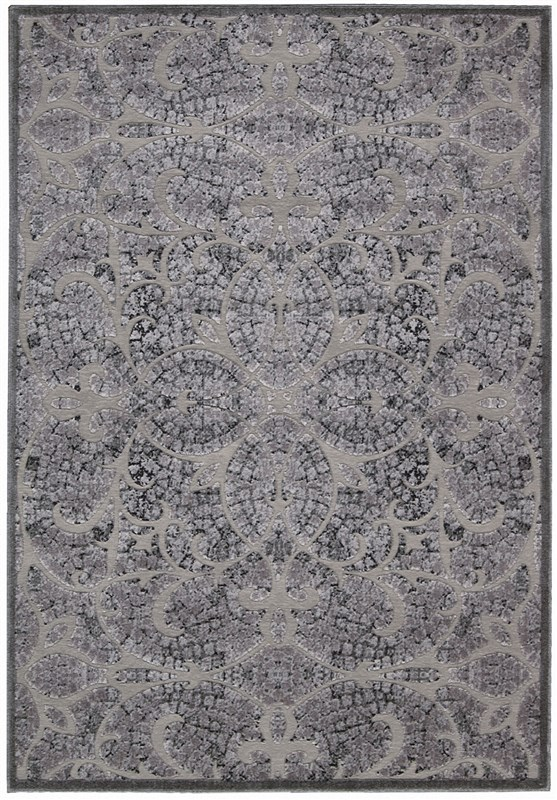 Nourison Graphic Illusions 130 Grey Rug