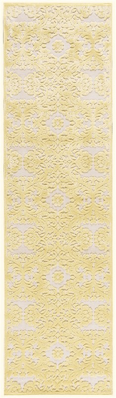 Nourison Graphic Illusions 131 Yellow Rug