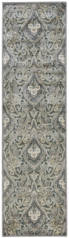 Nourison Graphic Illusions 132 Grey Rug