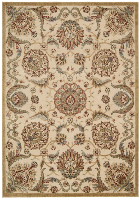 Nourison Graphic Illusions 130 Beige Rug