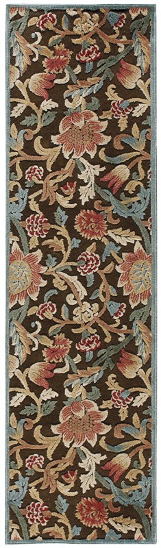 Nourison Graphic Illusions 132 Brown Rug