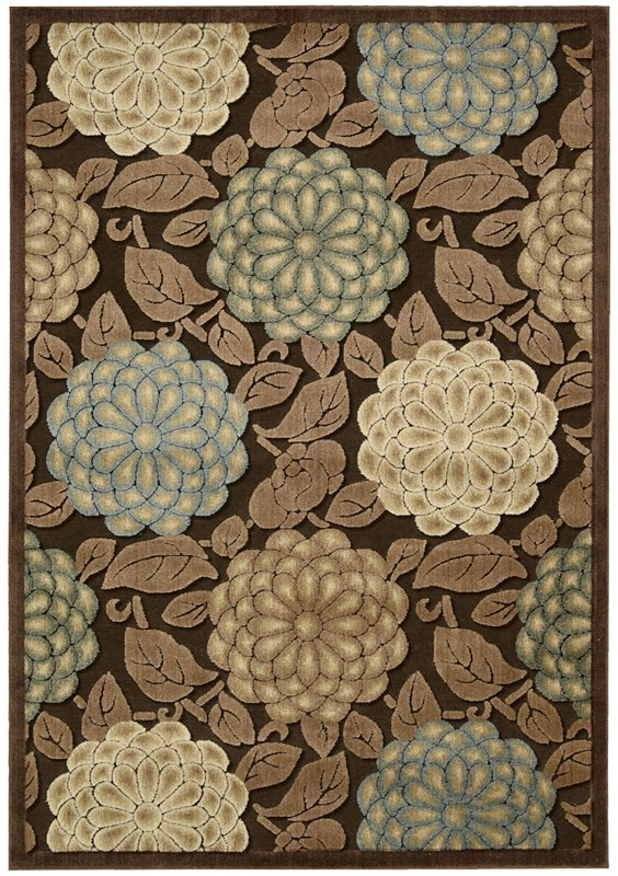 Nourison Graphic Illusions 131 Brown Rug
