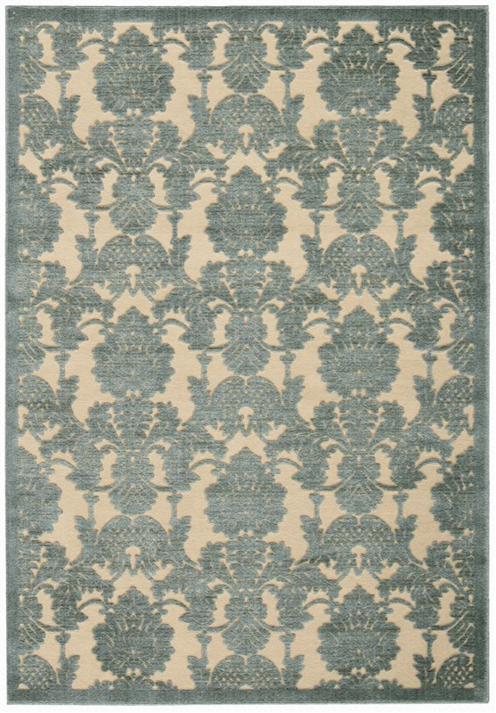 Nourison Graphic Illusions 135 Teal Rug