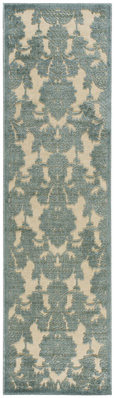 Nourison Graphic Illusions 133 Teal Rug