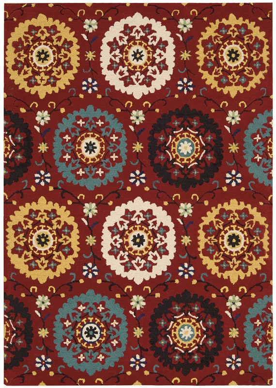 Nourison Suzani 139 Red Rug