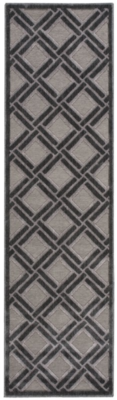 Nourison Graphic Illusions 160 Grey Rug