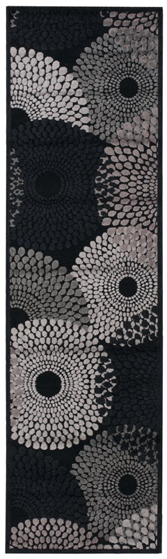 Nourison Graphic Illusions 221 Black Rug
