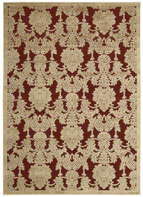 Nourison Graphic Illusions 145 Red Rug