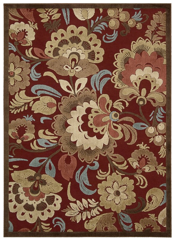 Nourison Graphic Illusions 220 Red Rug
