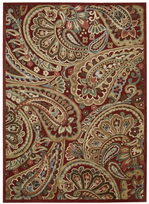 Nourison Graphic Illusions 222 Red Rug