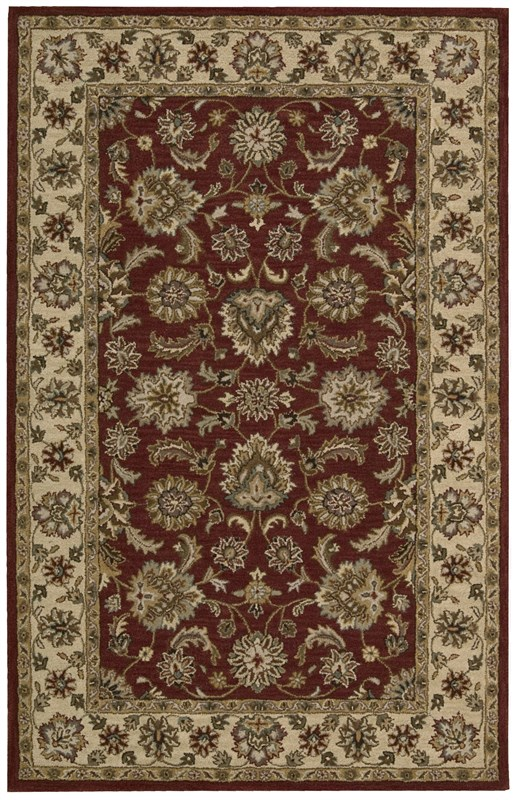 Nourison India House 416 Red Rug