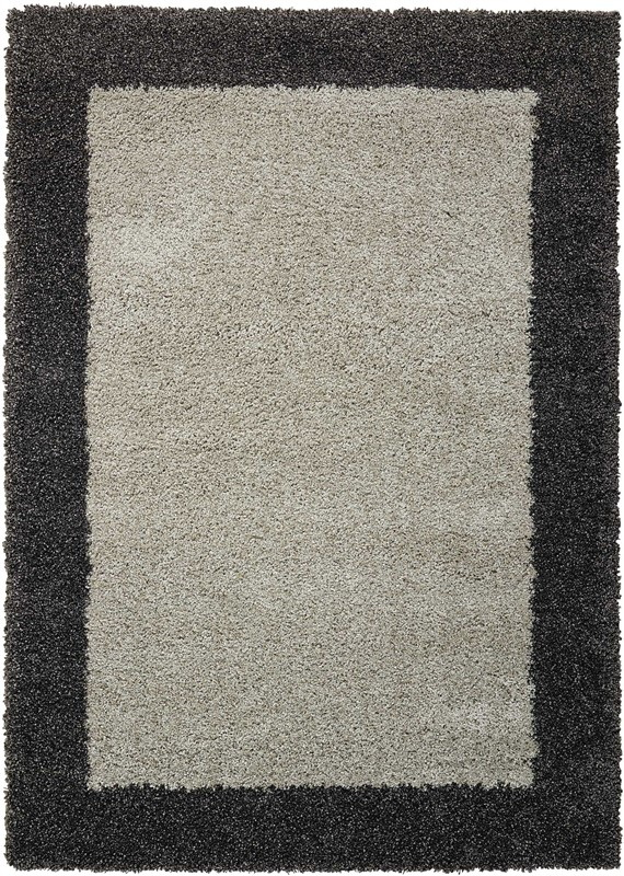 Nourison Amore Silver/charcoal Shag Area Rug